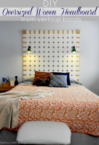 DIY Oversized Woven Headboard from Vertical Blinds_thumb[1]