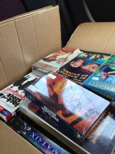 A whole box of VHS tapes!
